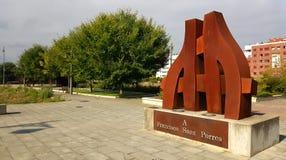 Monument till Francisco Saez Porres i Logroño, Spanien fotografering för bildbyråer