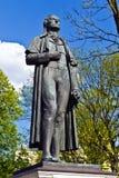 Monument till Friedrich Schiller. Kaliningrad (Koenigsberg för 1946), Ryssland arkivfoto