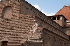 Monument till Giovanni delle Bande Nere, Florence, Italien arkivbild