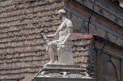 Monument till Giovanni delle Bande Nere, Florence, Italien fotografering för bildbyråer