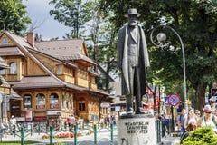 Monument till greveWladys ław Zamoyski, Zakopane Royaltyfria Foton