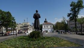 Monument till Grigory Skovoroda i Kiev arkivbilder