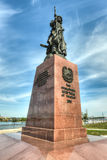 Monument till grundarna av staden av Irkutsk Fotografering för Bildbyråer