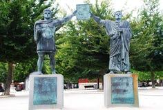 Monument till grundarna av staden, Lugo, Spanien arkivfoto