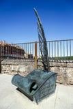 Monument till hemmet av den skriftliga spanjoren Fotografering för Bildbyråer