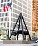 Monument till Joe Louis Detroit Arkivbilder