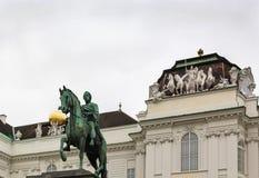 Monument till kejsaren Joseph II, Wien Fotografering för Bildbyråer