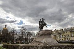 Monument till kejsaren Peter det stort Fotografering för Bildbyråer