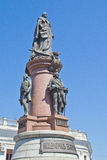 Monument till kejsarinnan Catherine The Great i Odessa Arkivfoto