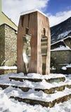 Monument till konstitutionen 1993 i Andorra la Vella _ Arkivbild