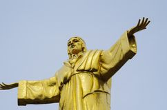 Monument till Kristus konungen Arkivbild