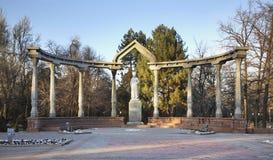 Monument till Kurmanjan Datka i Bishkek kyrgyzstan royaltyfri bild