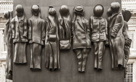Monument till kvinnorna av världskrig två Arkivfoto