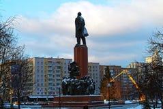 Monument till Lenin i Moskva Royaltyfri Foto