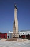 Monument till Litauen årsdag 1000 i Marijampole lithuania royaltyfria bilder