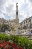 Monument till martyr, piazzadei Martiri, Naples, Italien Royaltyfri Foto