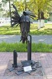 Monument till meningen och intelligensen - fågelpratmakare i Vologda Royaltyfria Foton