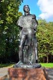 Monument till Mikhail Kutuzov. Kaliningrad Ryssland royaltyfri fotografi