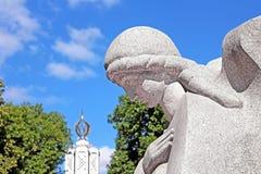 Monument till miljoner av offer av den stora svälten i 1932-1933 Fotografering för Bildbyråer
