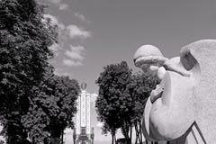 Monument till miljoner av offer av den stora svälten i 1932-1933 Arkivfoton