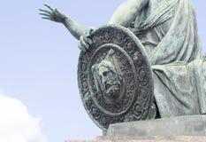 Monument till Minin och Pozharsky på röd fyrkant i Moskva, Ryssland Fotografering för Bildbyråer