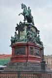 Monument till Nicholas I i St Petersburg, Ryssland Fotografering för Bildbyråer