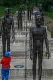 Monument till offren av kommunism arkivbilder