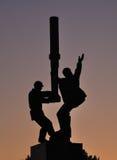 Monument till oilmenna Almetyevsk Royaltyfria Foton