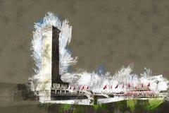 Monument till People&en x27; s-hjältar på Tian& x27; anmen kvadrerar, Peking Arkivbild