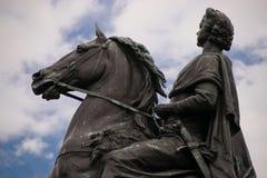 Monument till Peter den stora bronsskickliga ryttaren Arkivbild