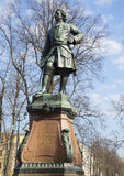 Monument till Peter det stort, april dag i Kronstadt Arkivbilder