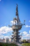 Monument till Peter det stort, Moskva, Ryssland Arkivfoto