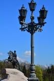 Monument till Peter det stort nära den Neva floden i St Petersburg, Ryssland Arkivbilder