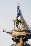 Monument till Peter det stort, profilfoto Arkivfoto