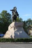 Monument till Peter I på en häst Royaltyfria Foton