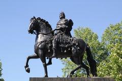 Monument till Peter I på en häst Arkivfoto