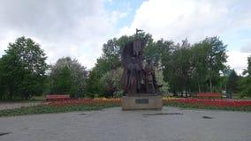 Monument till Peter och Fevronia i Yekaterinburg Arkivfoton