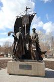 Monument till Peter och Fevronia i Yekaterinburg Fotografering för Bildbyråer