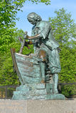 Monument till Peter 1 som bygger det första träskeppet på Admiren Arkivbilder