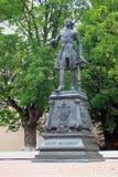 Monument till Peter storen i Baltiysk Arkivfoto