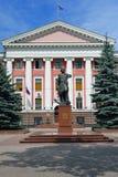 Monument till Peter storen Kaliningrad arkivbild
