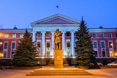 Monument till Peter storen Kaliningrad royaltyfri foto