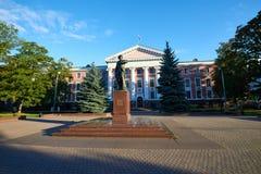 Monument till Peter storen Kaliningrad arkivfoto