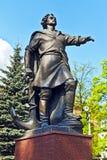 Monument till Peter storen. Kaliningrad (Koenigsberg för 1946), Ryssland royaltyfri fotografi