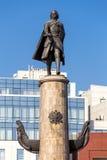 Monument till Peter storen Lipetsk Ryssland Arkivfoto