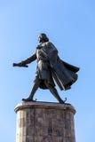 Monument till Peter storen Lipetsk Ryssland Royaltyfri Foto