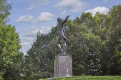 Monument till Peter storen Ryssland Yaroslavl region, Pereslavl-Zalessky, royaltyfri foto