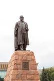 Monument till poeten och filosofen Abai Kunanbayev Almaty Ka Arkivfoton