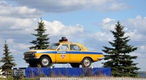 Monument till polisbilen. Arkivbilder