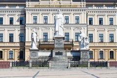 Monument till Princess Olga i Kiev Fotografering för Bildbyråer